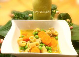 Gemüse-Curry mit Bio Vollkorn-Hörnchen
