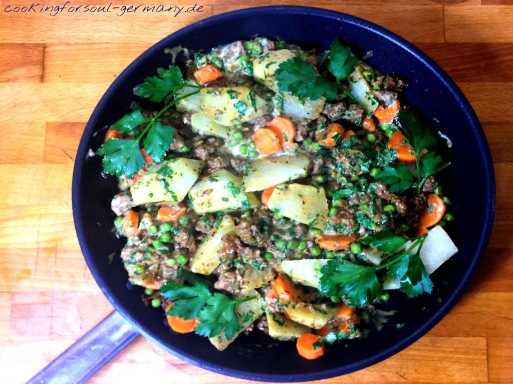 Gemüse-Tartar-Pfanne