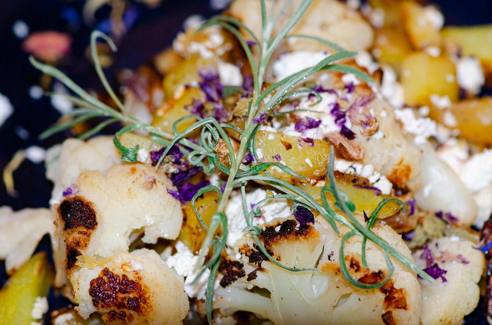 Vegetarische Blumenkohl Kartoffelpfanne mit Feta - Rezept mit Optigrill