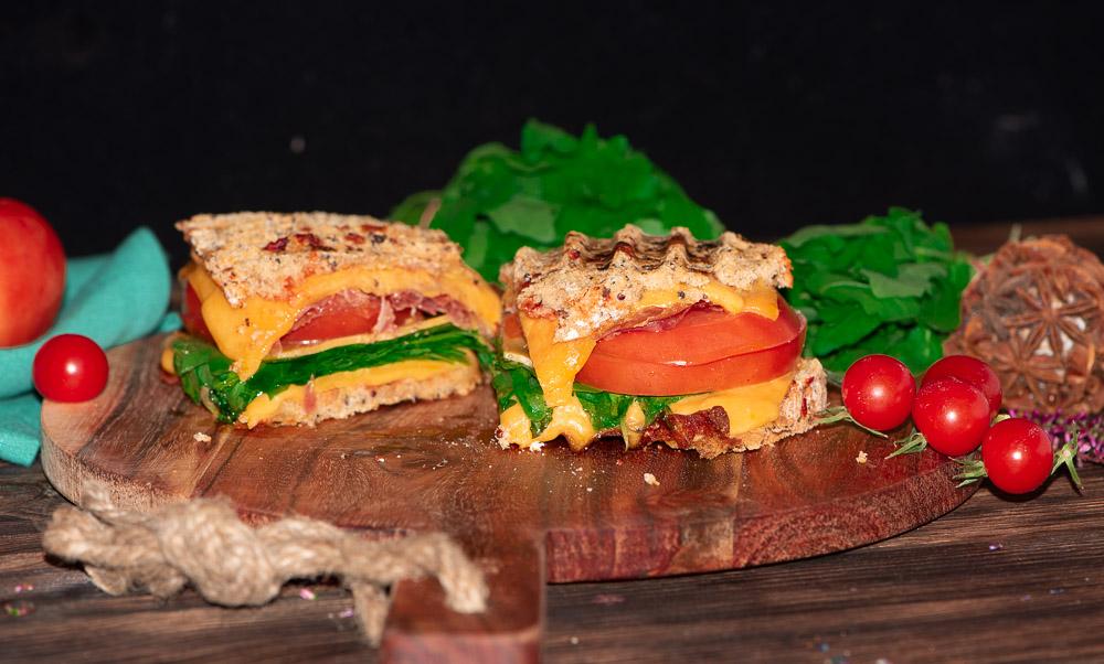 Überbackenes Sandwich