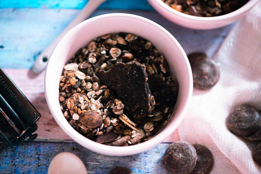 Schokoladen Müsli ohne Zucker